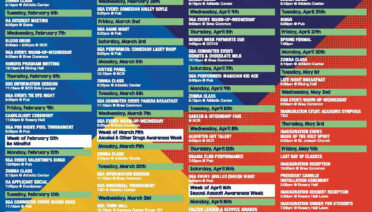 Student Services Monthly Calendar and Activities Poster at ...