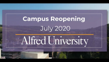 Reopening Campus Fall 2020 | Alfred University