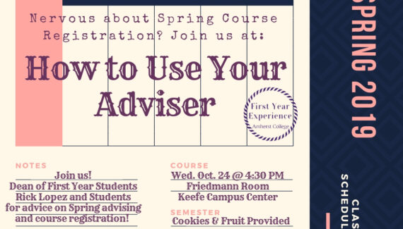 How to Use Your Advisor | Event Calendar | Amherst College