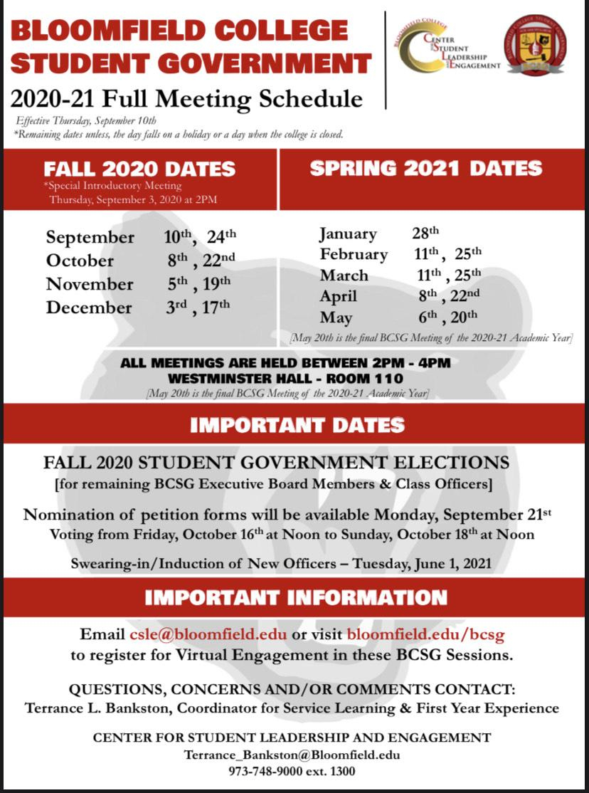 Bloomfield College Student Government   Bloomfield College