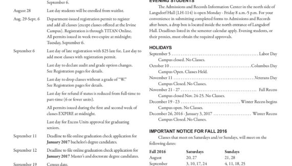 CSUF 2016 Fall Registration Guide Pages 1 - 50 - Flip PDF ...
