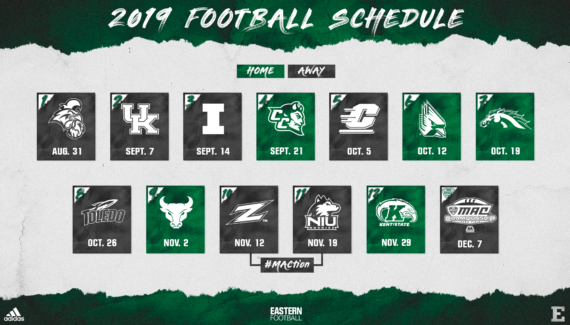 Football Schedule Released; Five Home Games Highlight 2019 ...