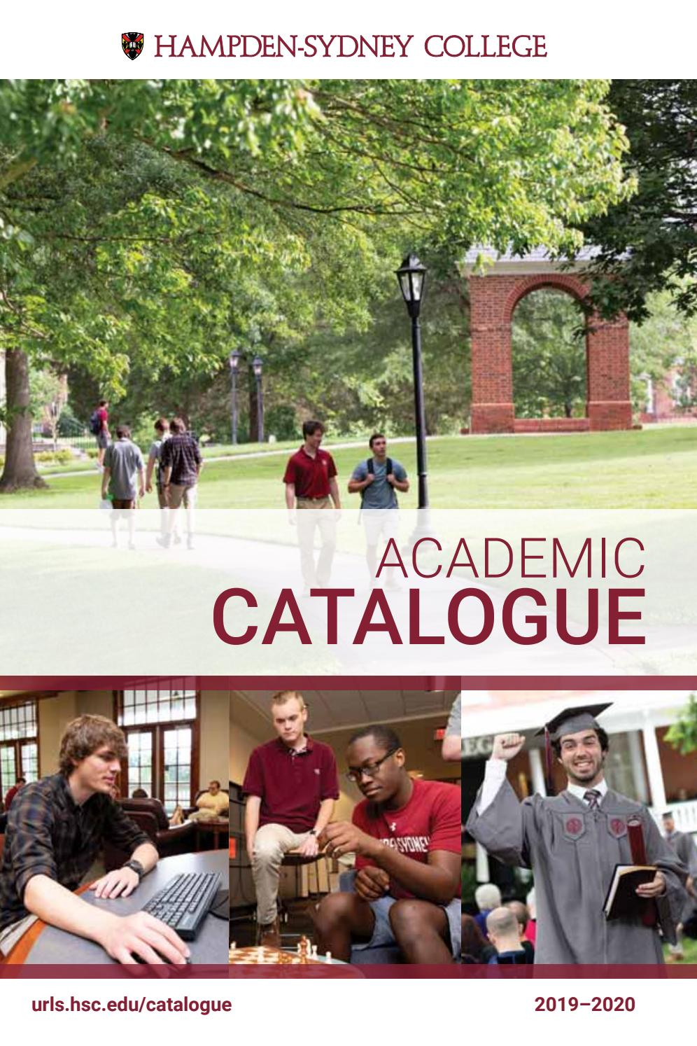 Academic Catalogue, 2019-20 by Hampden-Sydney College - issuu