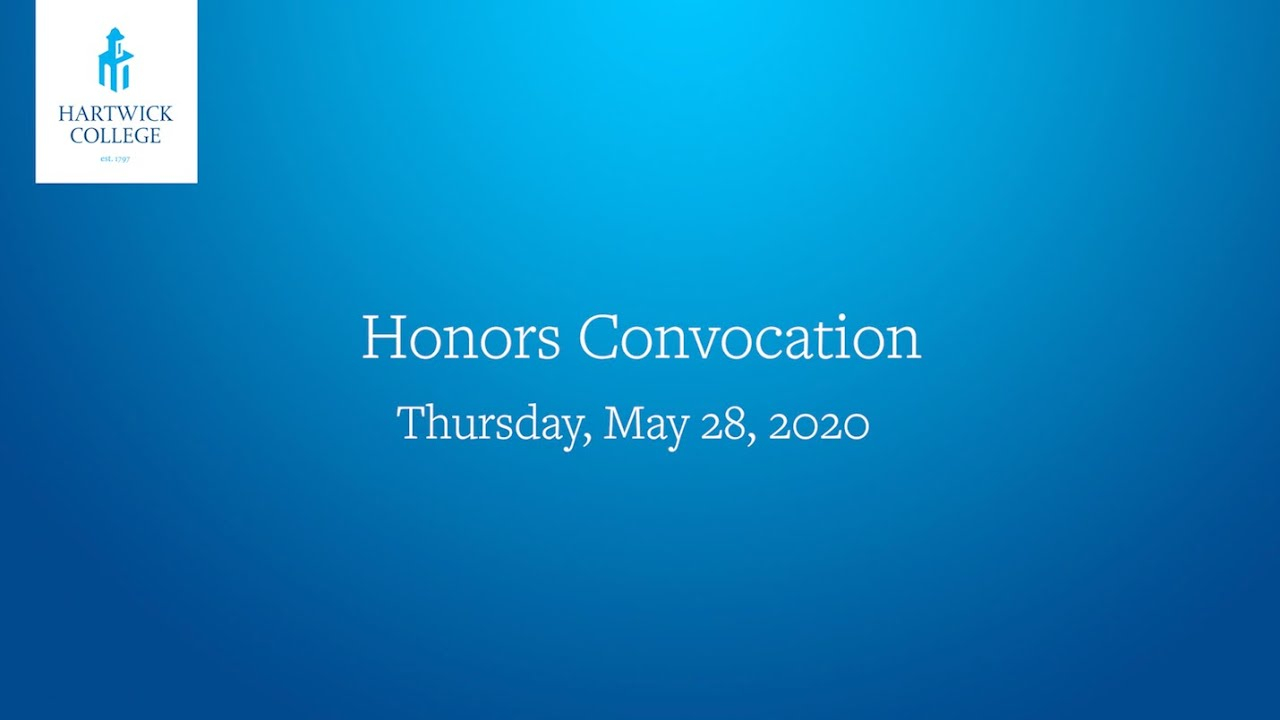 Honors Convocation - Hartwick College