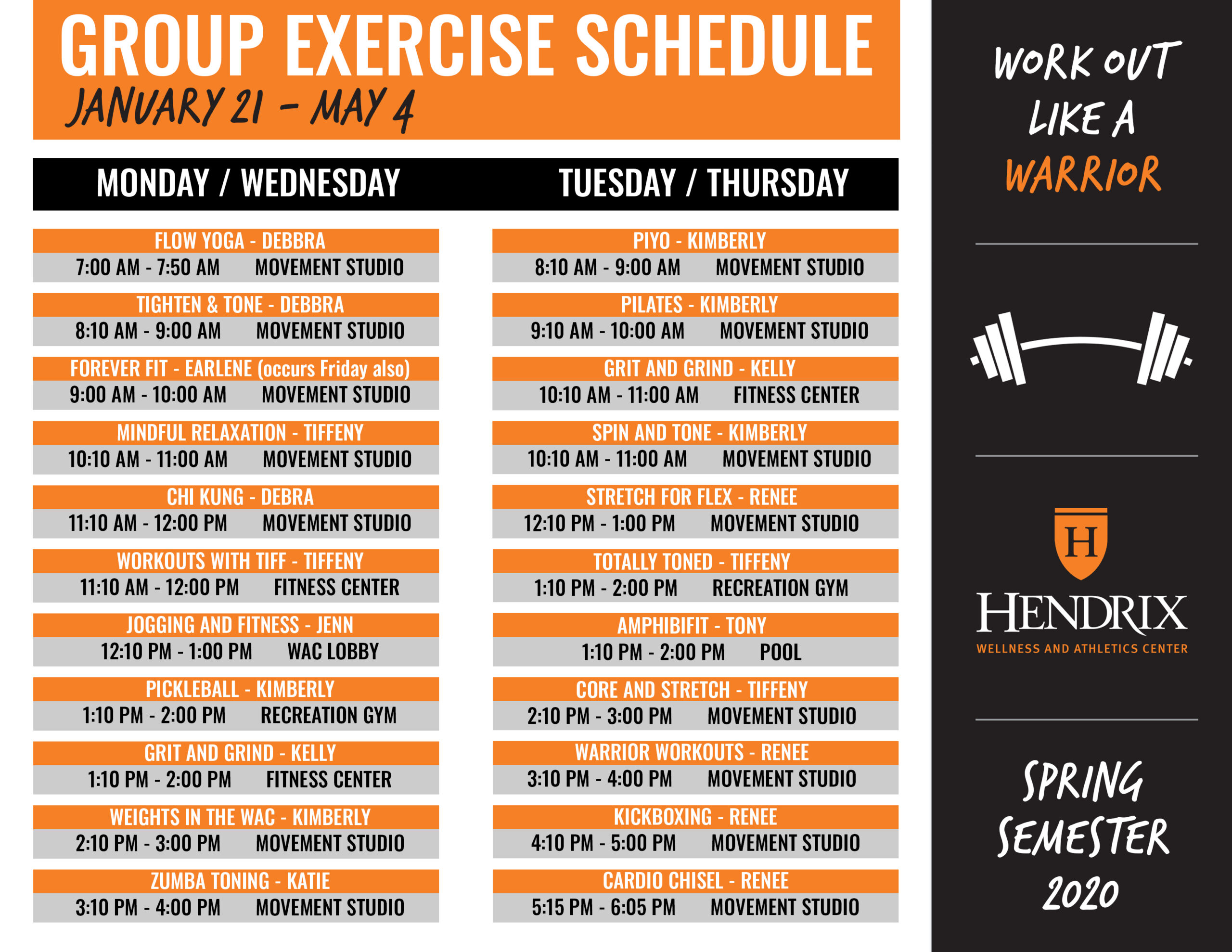 Group Exercise Classes | Hendrix College