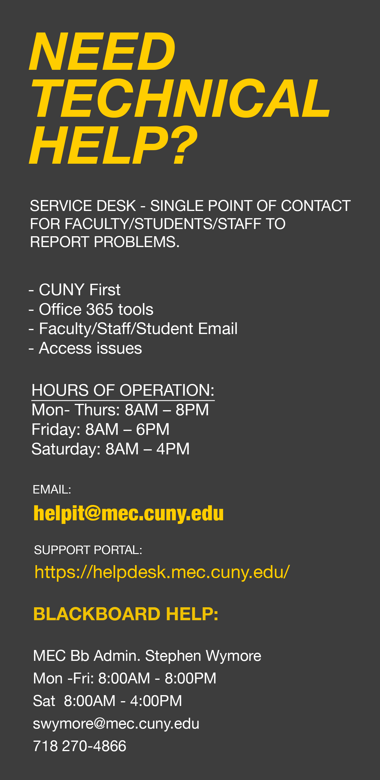 Student Resources (COVID-19) – Medgar Evers College