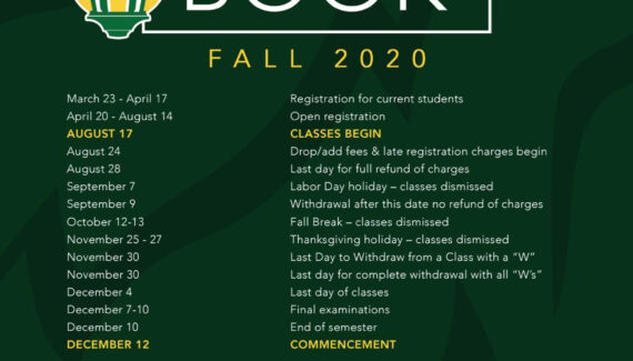 Fall 2020 Schedule Book by Missouri Southern State ...