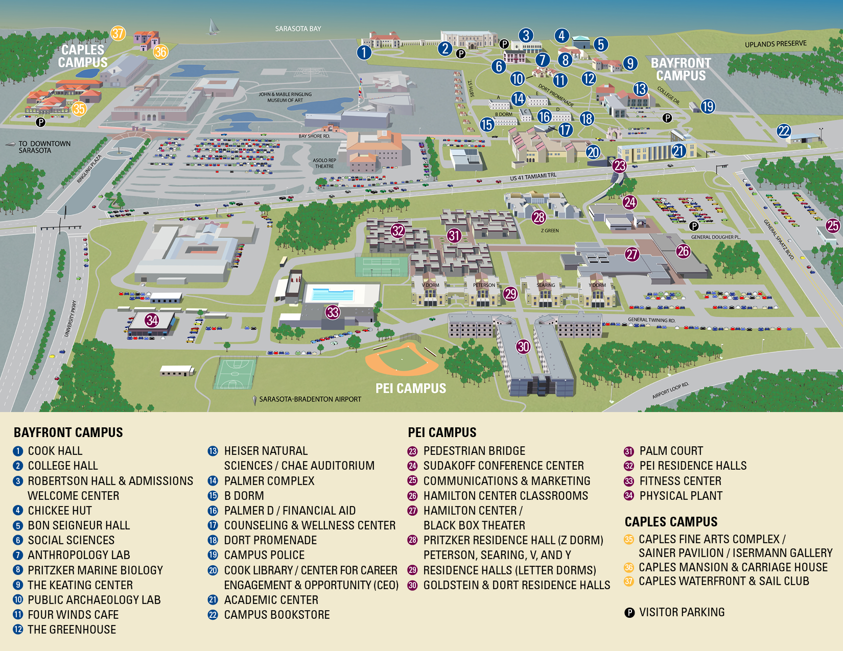New College Campus Map | New College of Florida