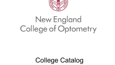 College Catalog 2016-2017 - New England College of Optometry