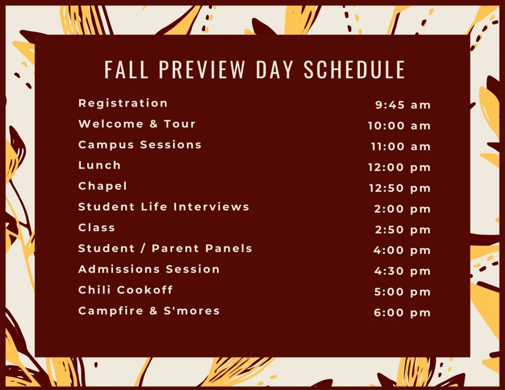 College Preview Day - Oak Hills Christian College