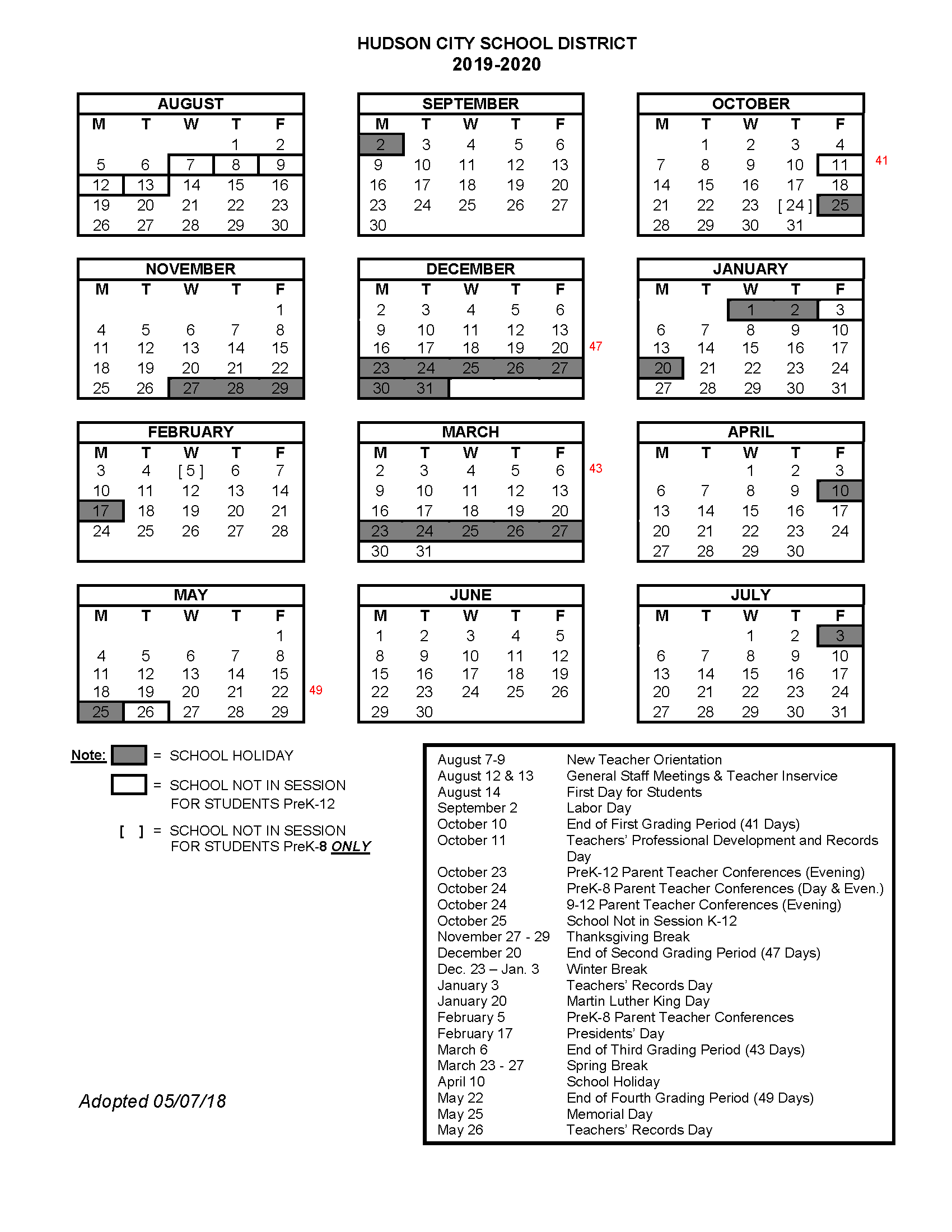 Oberlin Academic Calendar with Holidays HD Images https ...