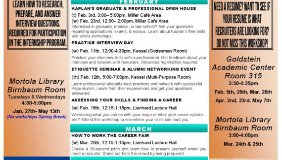 Spring Westchester Campus Calendar by Pace University Career ...