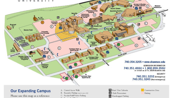 Campus Map / Directions - Shawnee State University - Acalog ...
