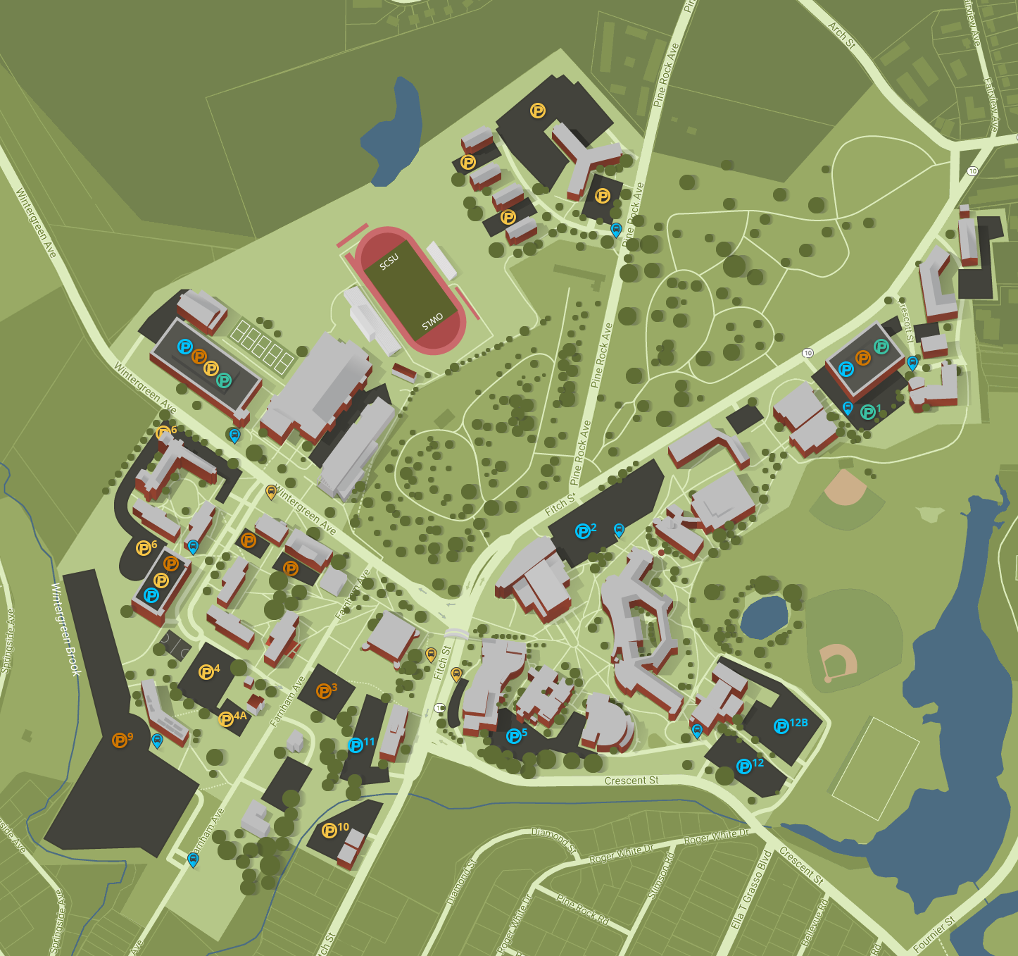 Campus Map   Southern Connecticut State University