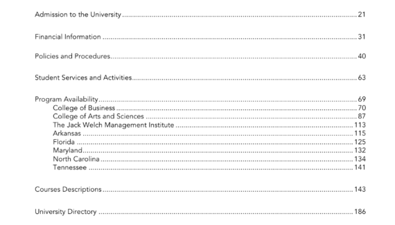 table of contents - Strayer University