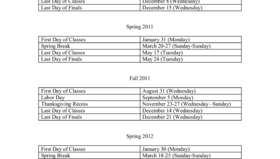 Towson University Approved Academic Calendars Fall 2010 ...