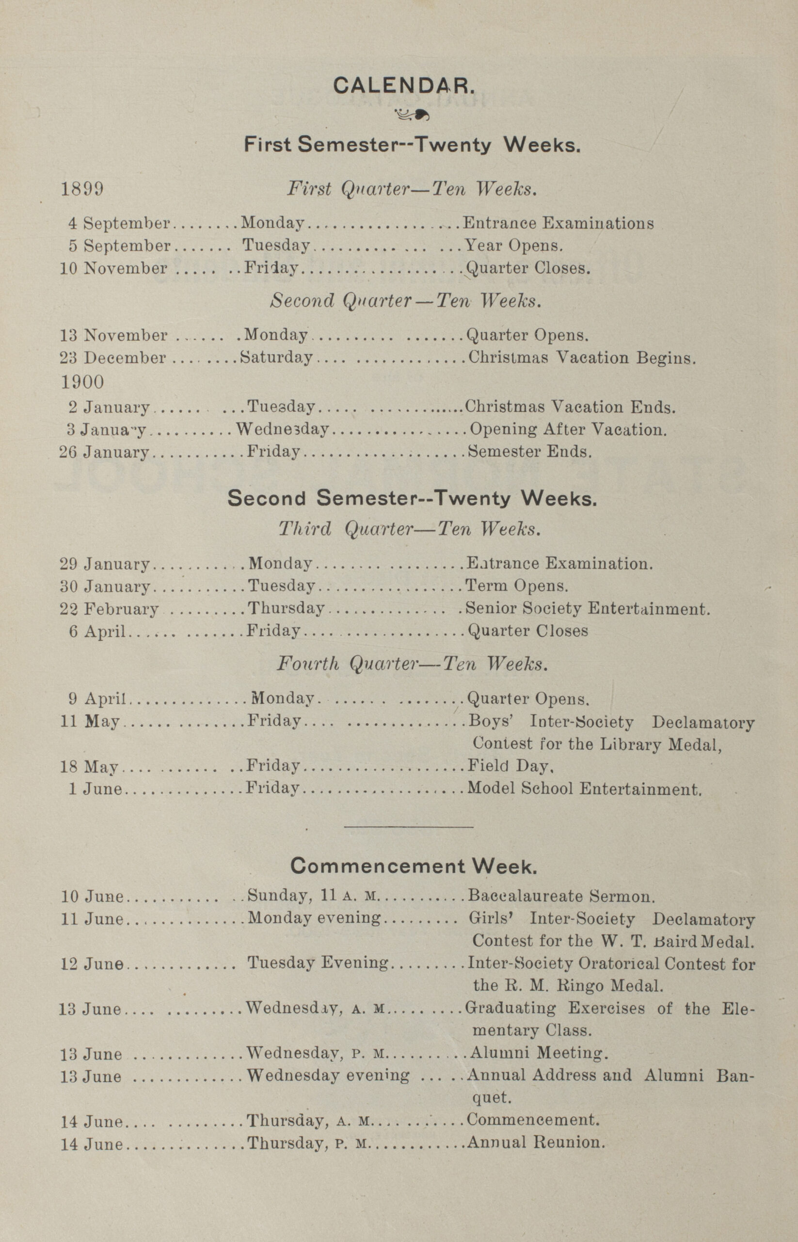 Truman State University Early Catalogs and Bulletins