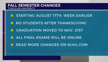 Tusculum announces changes to academic calendar to prevent COVID-19 spread