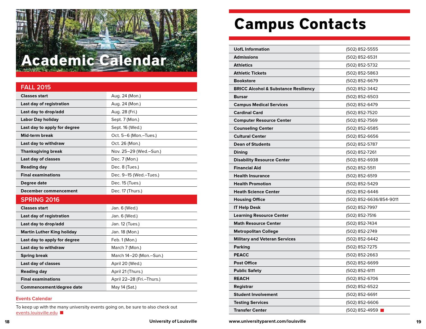 University of Louisville 2015-2016 Guide For Families by ...