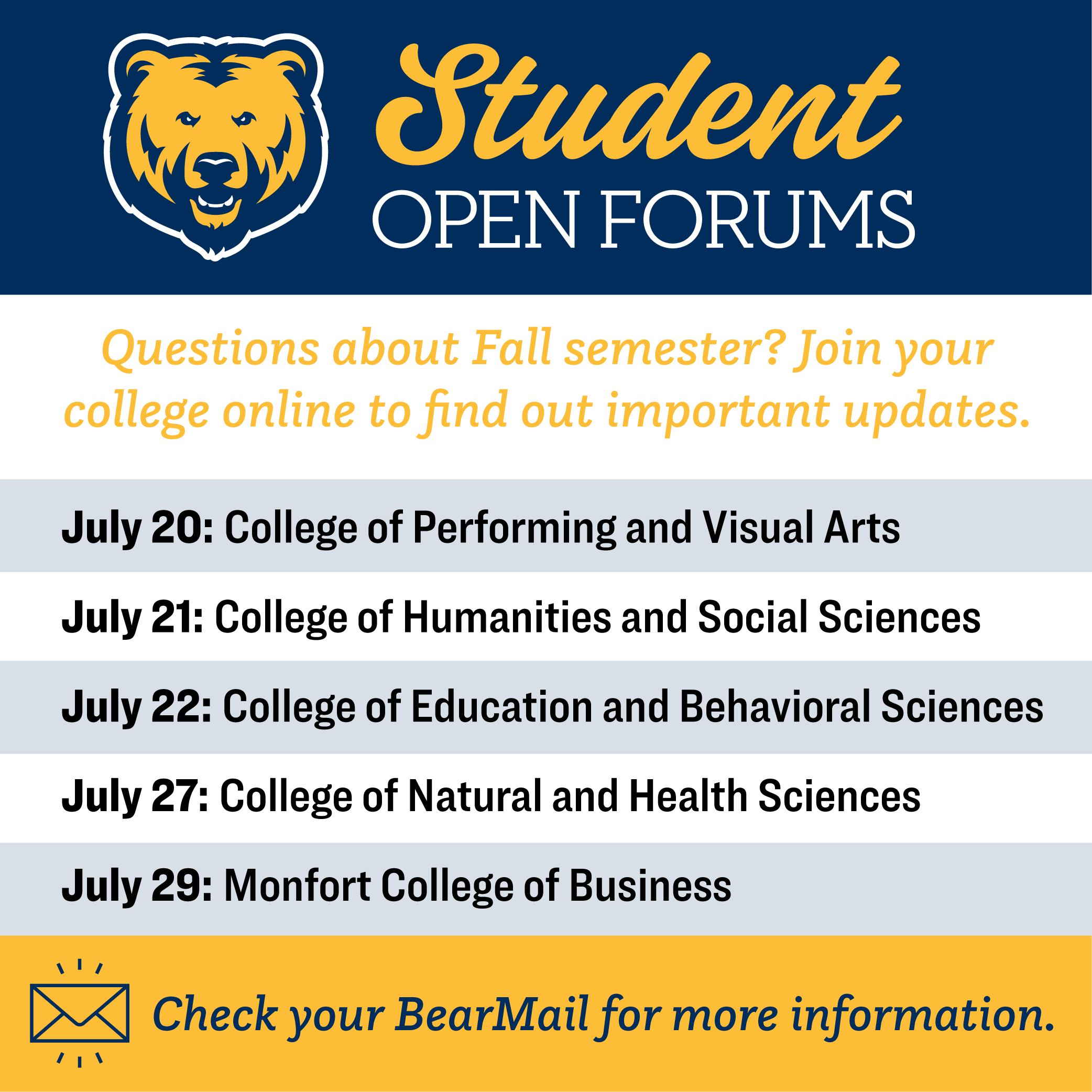 University of Northern Colorado Events - UNC Colleges ...