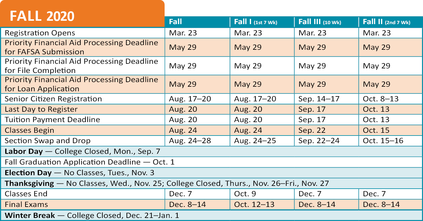 Academic Calendar   Technical College of the LowCountry
