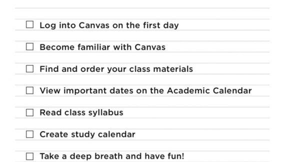 Start of Semester Checklist · Online at Southern Miss