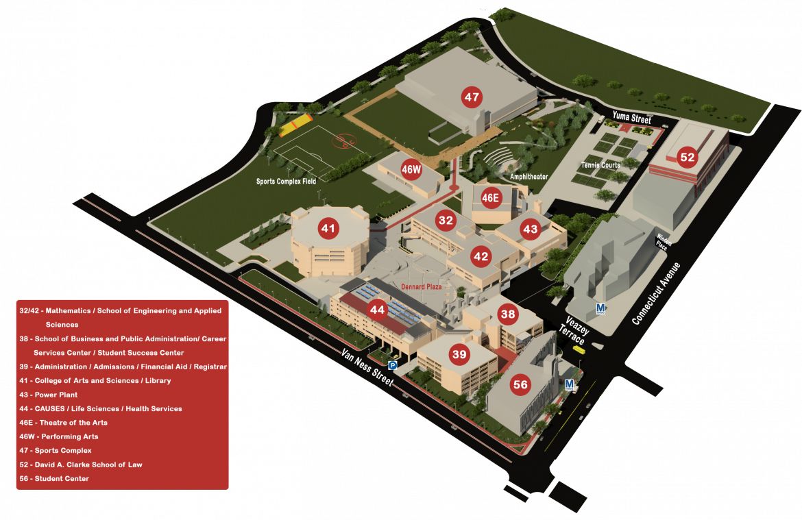 Campus Map | University of the District of Columbia