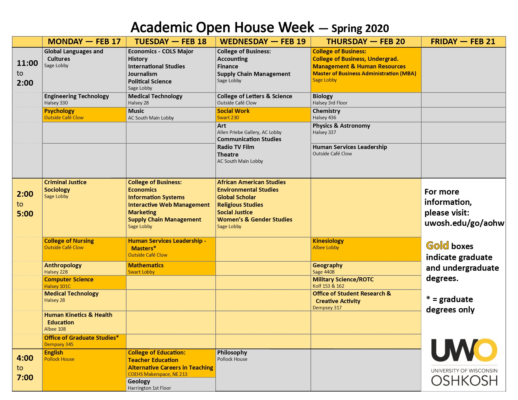 AOHW-Schedule-Version-02-05-2020-Front-Page - University ...