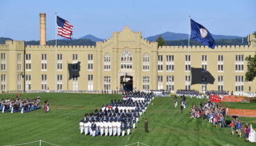"""VMI on Twitter: """"Cadets march in the first parade of the ..."""